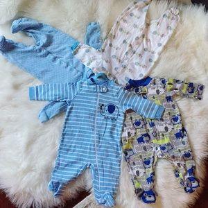 Bundle of 4pcs Baby Footies 0-3Months